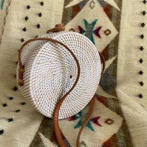 Handbags - Round Rattan Bag